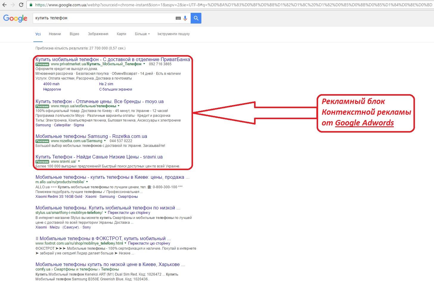 фото контекстная реклама в Google