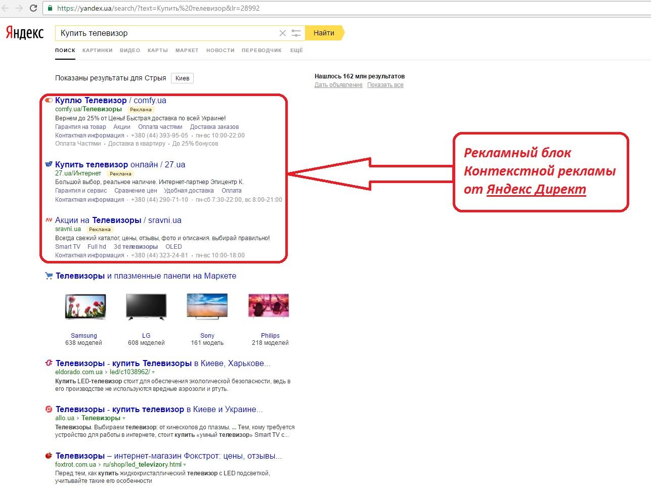 фото контекстная реклама в Яндекс